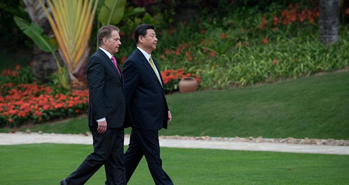 中國國家主席習近平與芬蘭總統尼尼斯托彼(圖片資料)