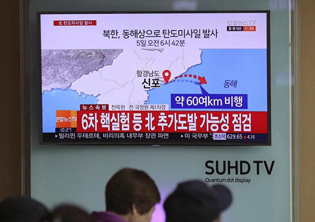 韓國密切關注朝鮮可能準備發射彈道導彈的消息
