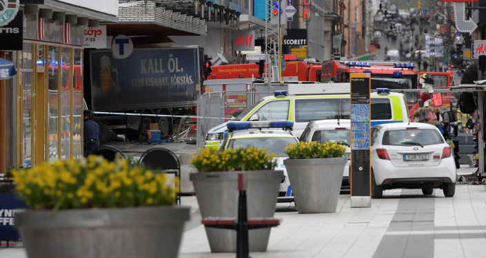 """瑞典警方:斯德哥尔摩恐怖袭击嫌疑人是""""伊斯兰国""""支持者"""