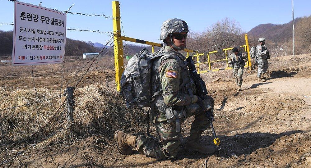 美国军人在韩国