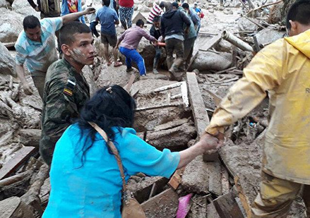 哥倫比亞自然災害 (資料圖片)