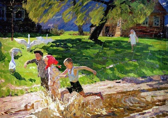 """西多罗夫的""""暴风雨过后"""",1957"""