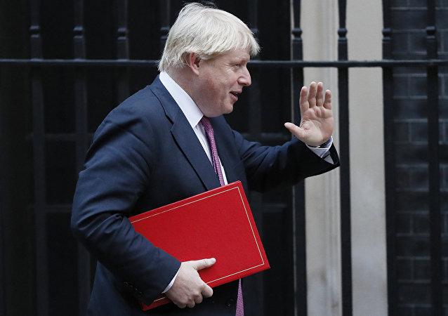 英國外交大臣約翰遜