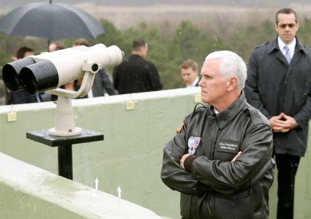 美国副总统谈朝鲜时称以武力实现和平