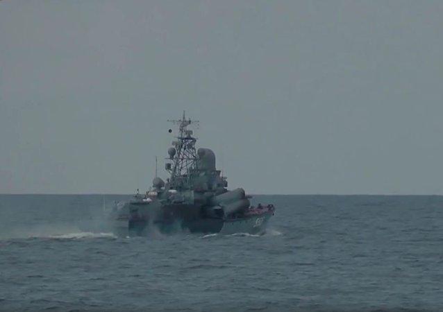 波羅的海舉行導彈射擊演練