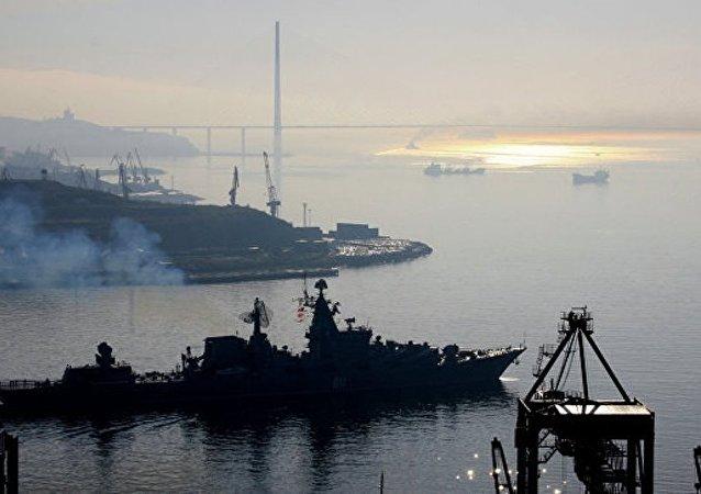 俄太平洋艦隊作戰艦艇支隊抵達馬尼拉港對菲海軍進行訪問