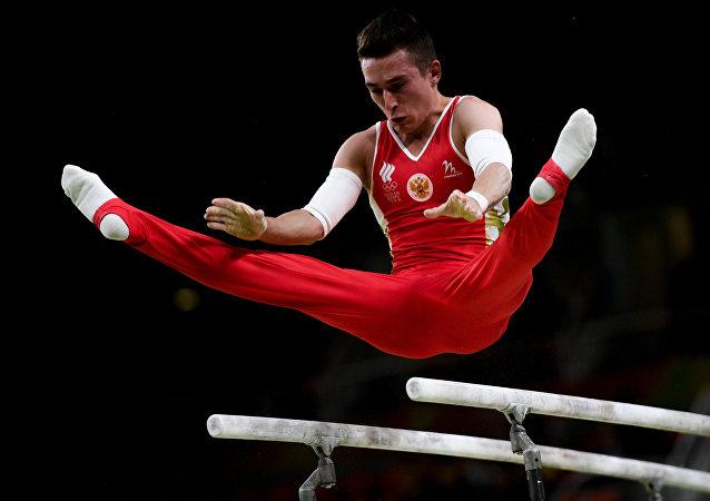 俄罗斯国家队在竞技体操欧锦赛上夺得团体冠军