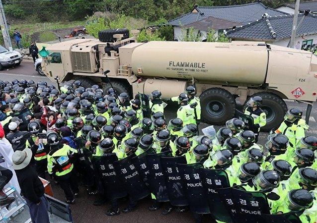設備的抵達引發了警方與當地居民的衝突