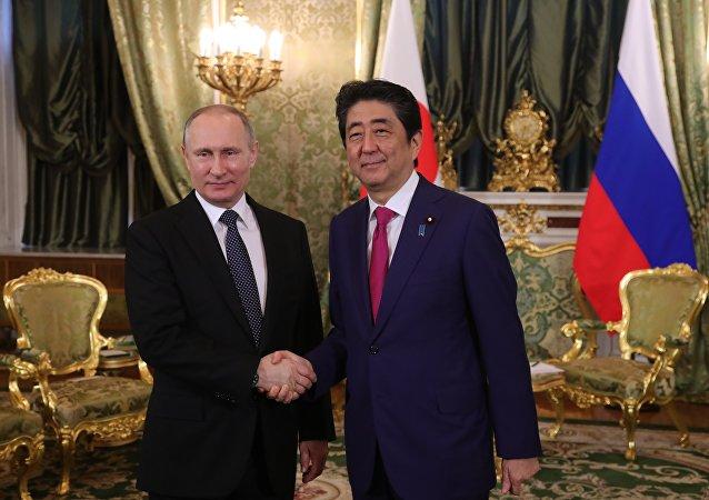 普京祝賀安倍晉三再度被選為日本自民黨總裁