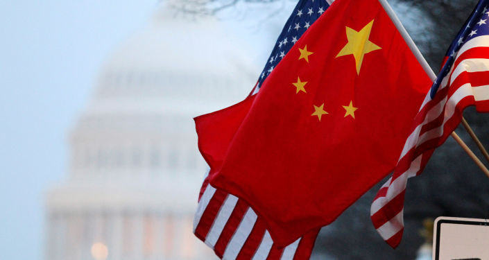 中国、美国国旗