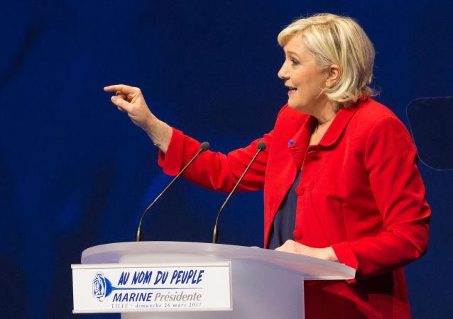 法国政党国民联盟主席玛丽娜·勒庞