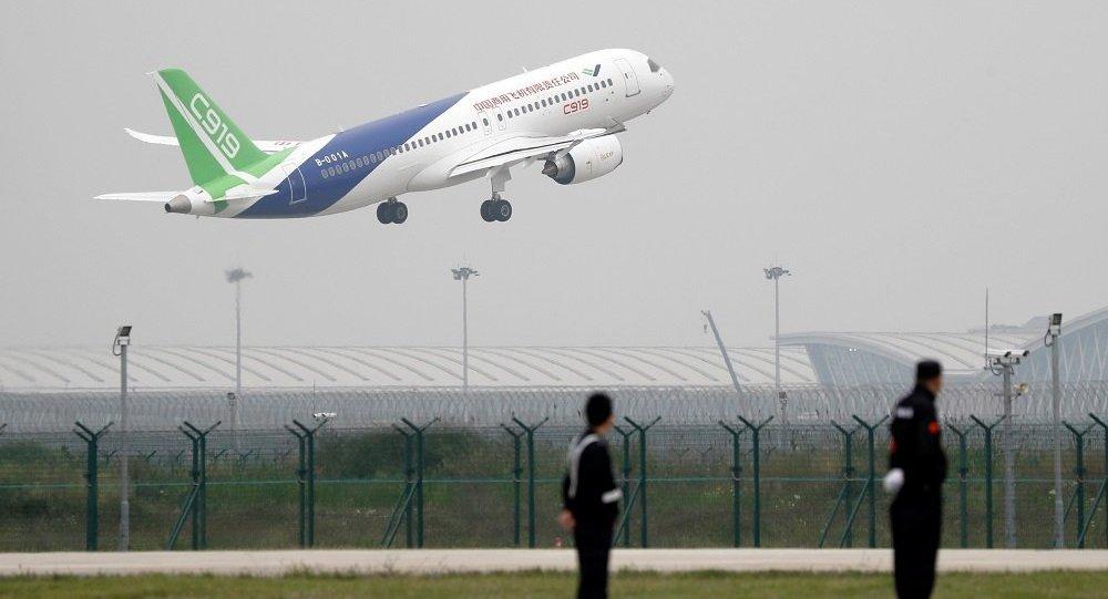 中国自主研制的新一代喷气式大型客机C919