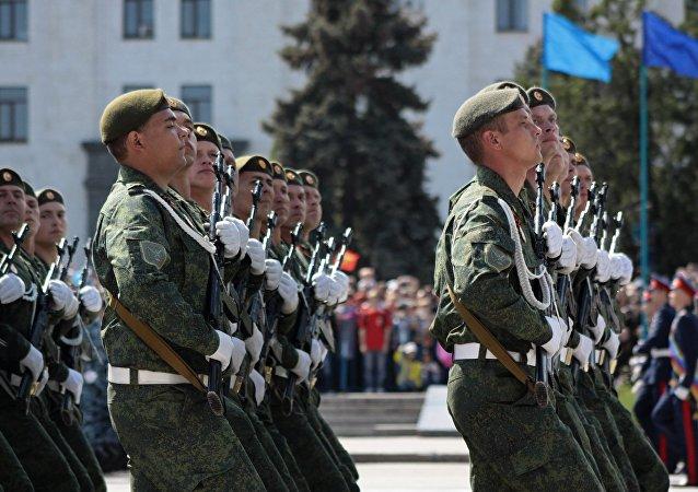 勝利日閱兵總彩排在盧甘斯克人民共和國進行