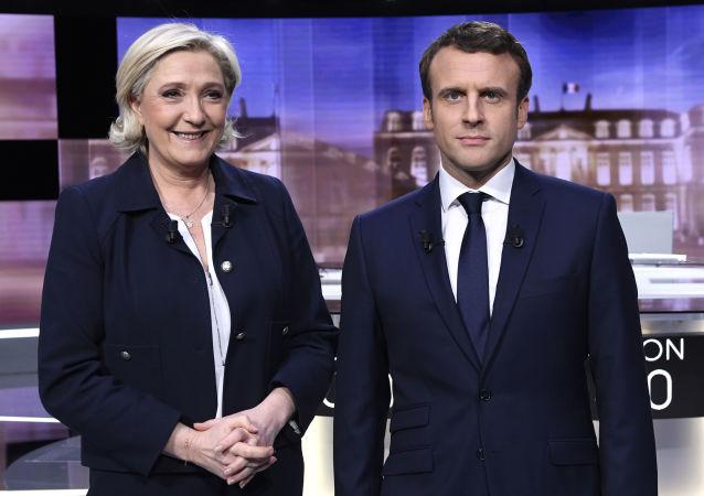 法內政部:馬克龍以66.1%得票率在法大選第二輪投票中獲勝 勒龐得票率為33.9%