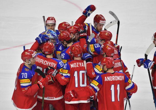俄羅斯冰球國家隊擊敗捷克隊進入世界冰球錦標賽半決賽