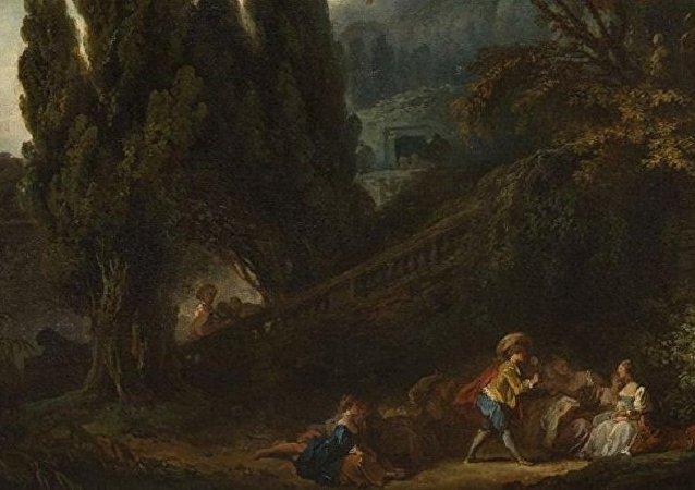 法国画家弗拉戈纳尔价值6百万欧元的画作在两百年后被发现