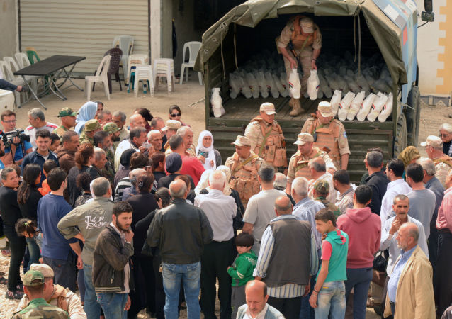 俄国防部:俄将食品和药品运抵代尔祖尔
