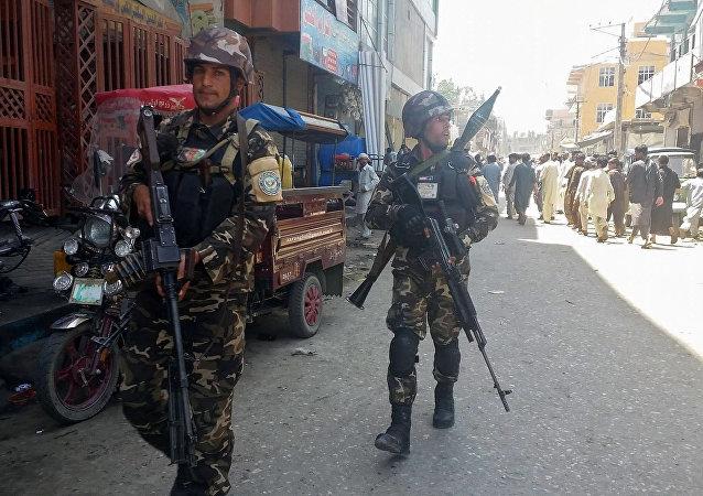 阿富汗保安人员