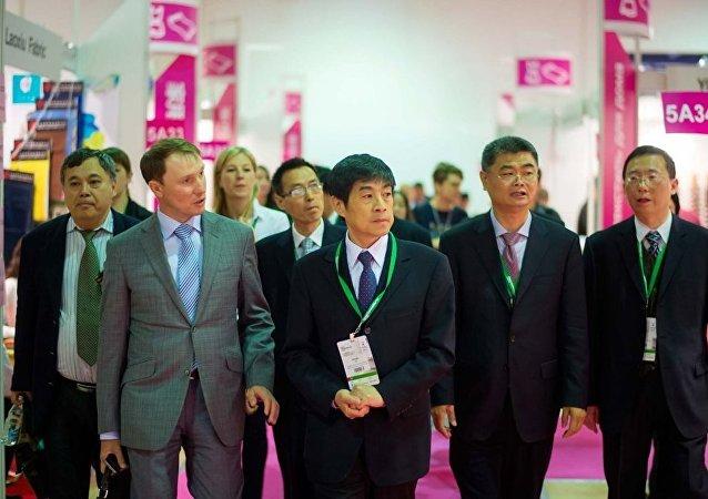 莫斯科中国消费品牌展览会(资料图片)
