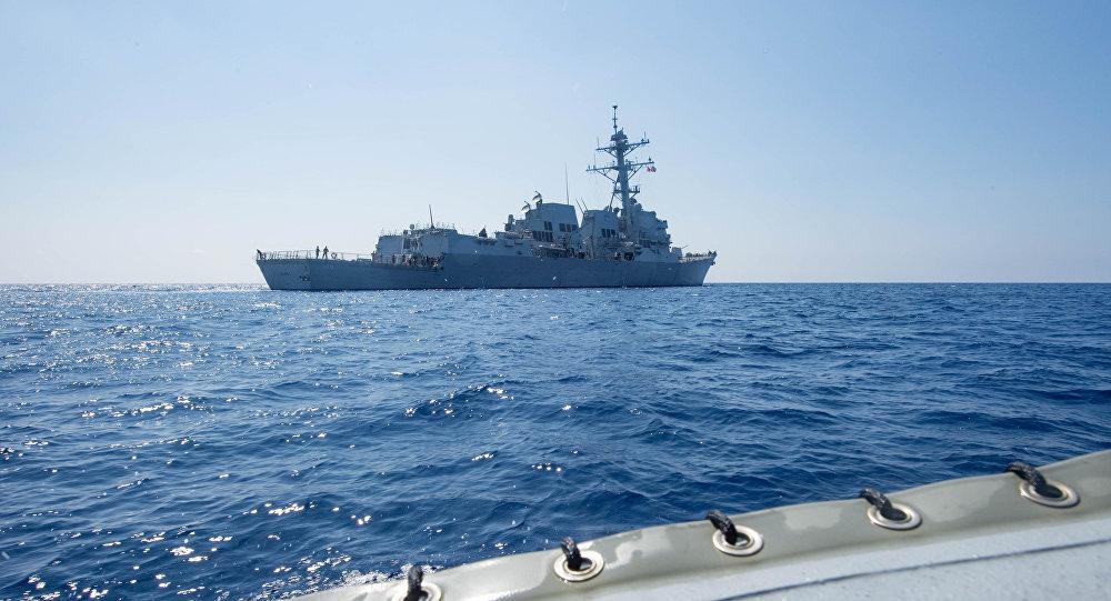 美日韩启动两日海军联合军演