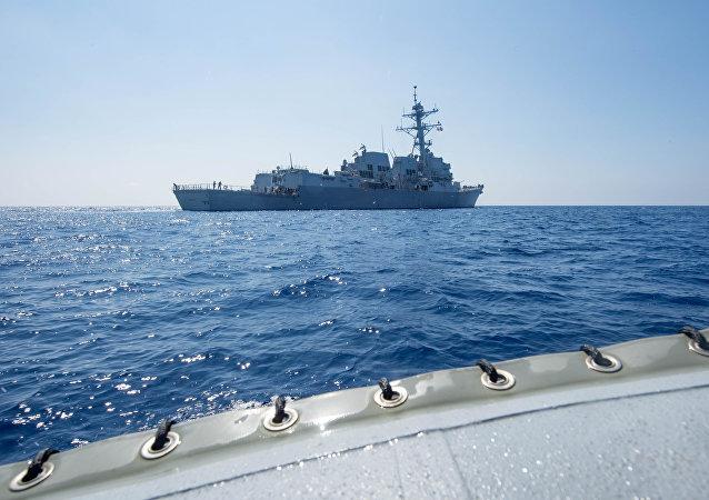 英法軍艦南海航行是在跟進美國 但打錯算盤