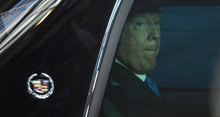 媒體:特朗普的座駕因尺寸過大未能通過布魯塞爾皇宮大門