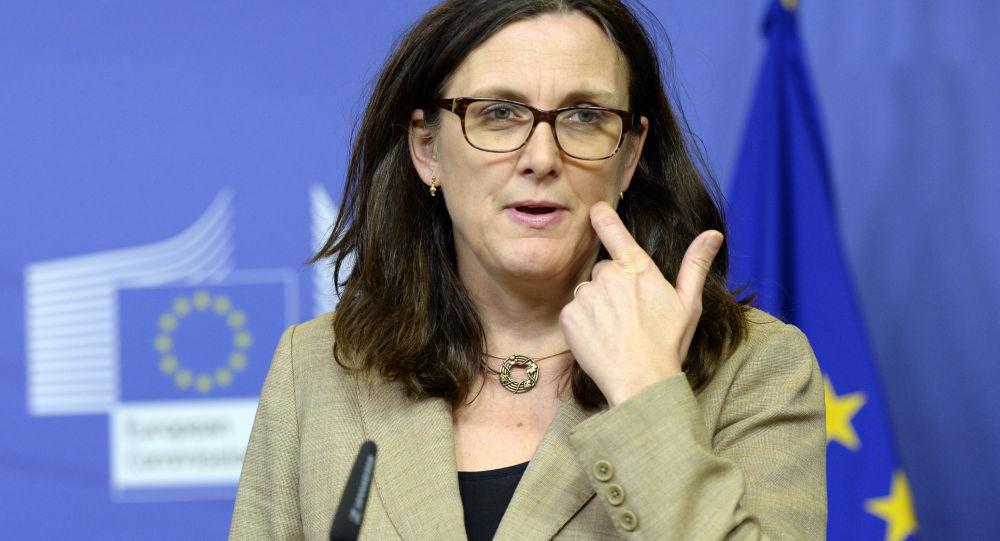 欧盟贸易委员塞西莉亚•玛姆斯托姆