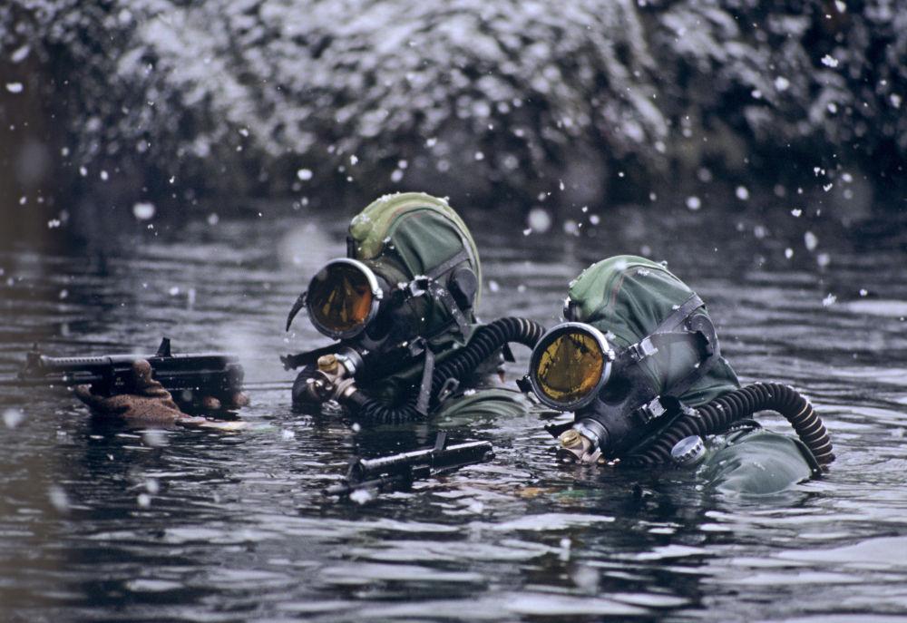 北方艦隊水下破壞分隊的戰士。