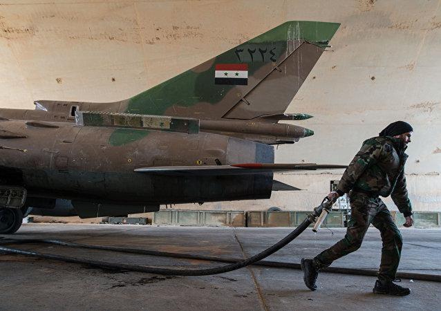 敘利亞的蘇-22殲擊機
