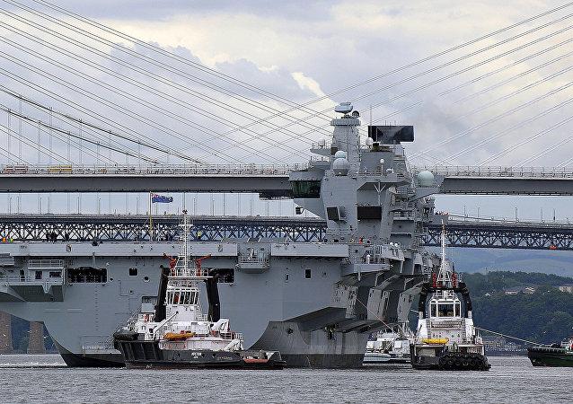 """媒体:英国航母将前往太平洋向中国""""秀肌肉"""""""