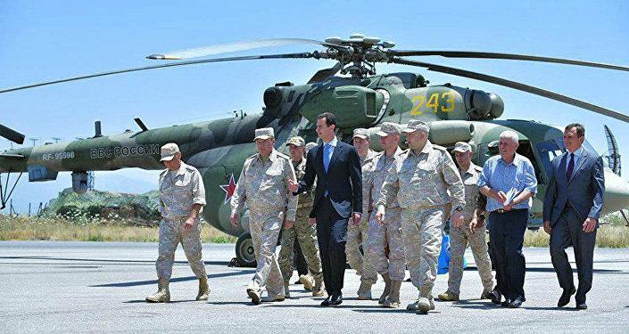 叙利亚总统访问俄驻叙空军基地