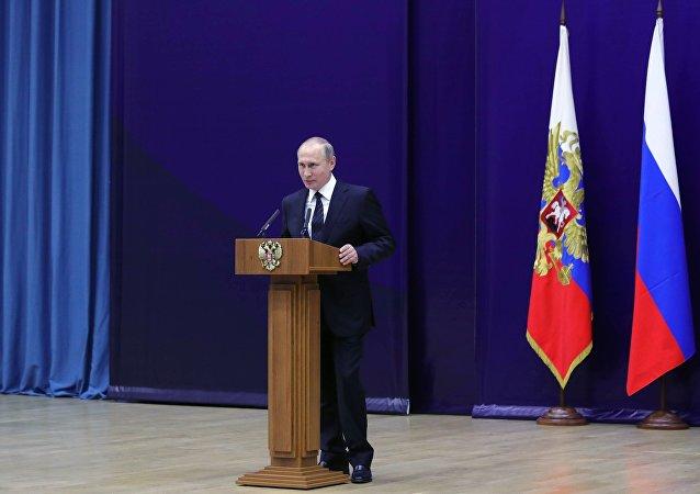 普京:外國特工部門企圖插手俄國內政治進程