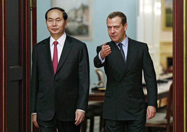 俄总理:俄越关系建立在传统友谊和合作的基础上