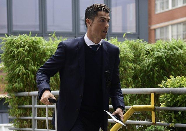 Real Madrid's Portuguese forward Cristiano Ronaldo