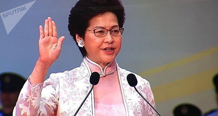 香港行政长官:香港回归后仍然是世界公认、最自由的经济体之一