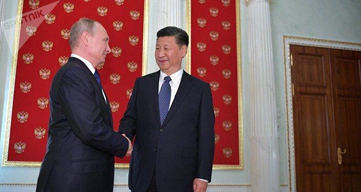 俄羅斯總統普京與中國主席習近平