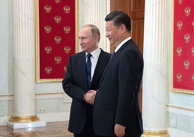 普京在致中國國家主席習近平的賀電中重申,願意增進俄中戰略合作
