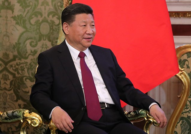 Председатель Китайской Народной Республики (КНР) Си Цзиньпин во время встречи с президентом РФ Владимиром Путиным