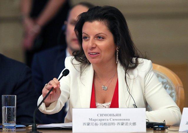 RT電視台和俄羅斯衛星通訊社主編瑪格麗特·西蒙尼揚