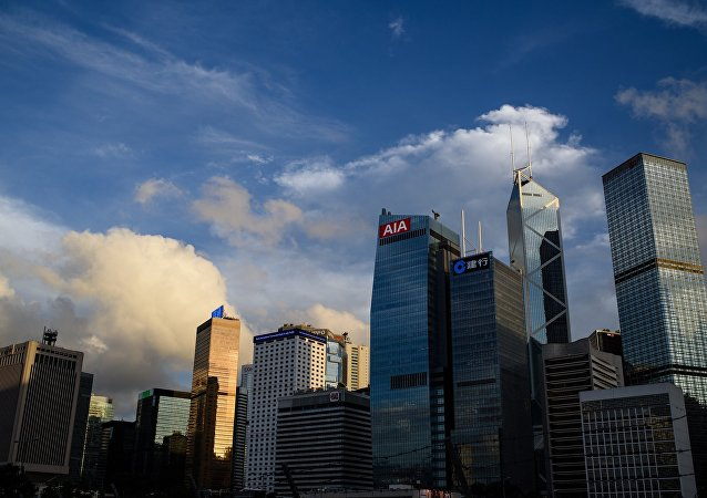 A general view shows the skyline of the Central district of Hong Kong