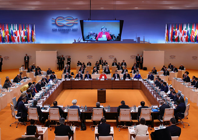 普京在G20峰会期间与意法领导人及联合国秘书长站立式会谈