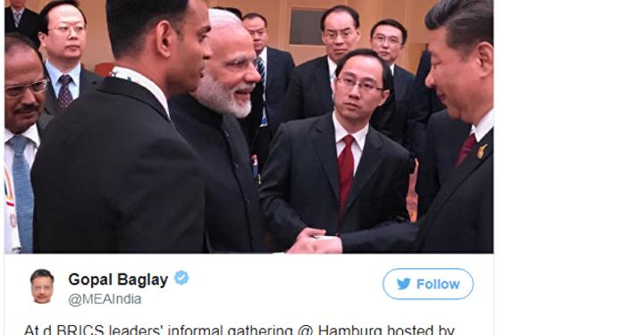 习近平和印度总理莫迪在G20峰会上握手