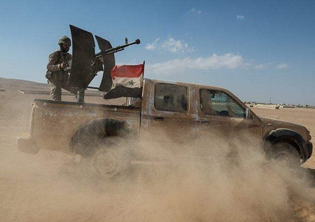 敘軍在坦夫地區被消滅的武裝分子處發現歐洲產電子戰器材