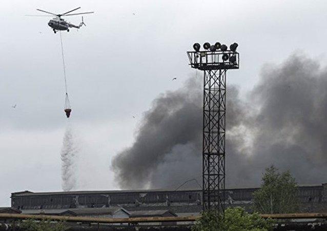 消息人士:圣彼得堡基洛夫工厂火灾明火已被扑灭