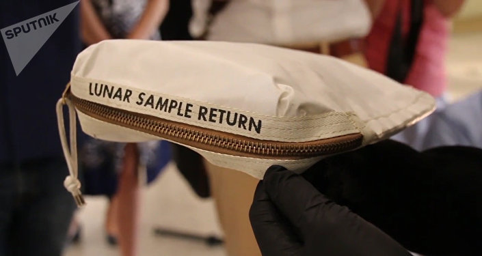 尼尔•阿姆斯特朗的一个沾有月球尘土的包在美国被拍卖