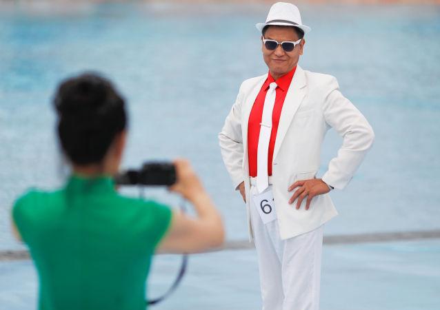 男模大赛, 中国,天津(资料图片)