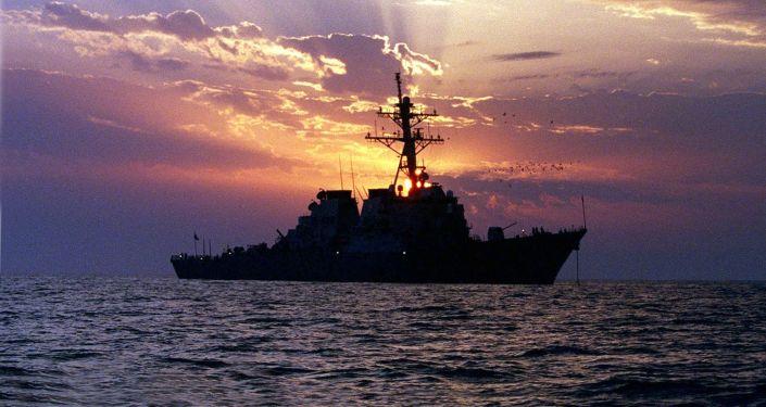 一艘北约驱逐舰抵达乌克兰敖德萨港
