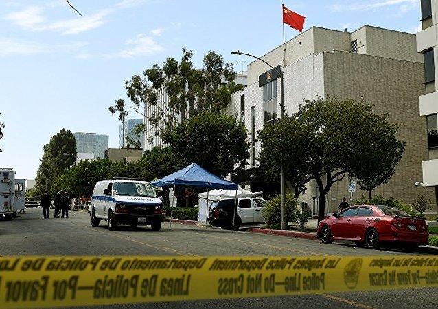 中國駐洛杉磯領事館遭一身份不明人士射擊