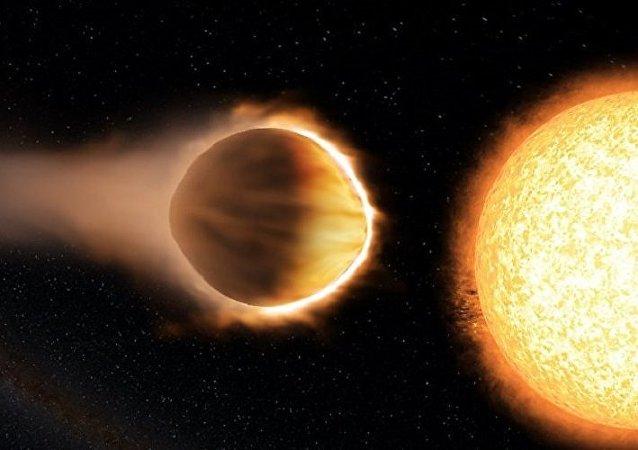 媒体:科学家发现一个大气层温度可蒸发金属的炽热星球