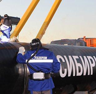 """""""西伯利亚力量""""天然气管道"""